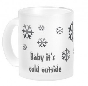 "shop Mok ""Baby, it's cold outside"" Design by Stijlarchief.nl"
