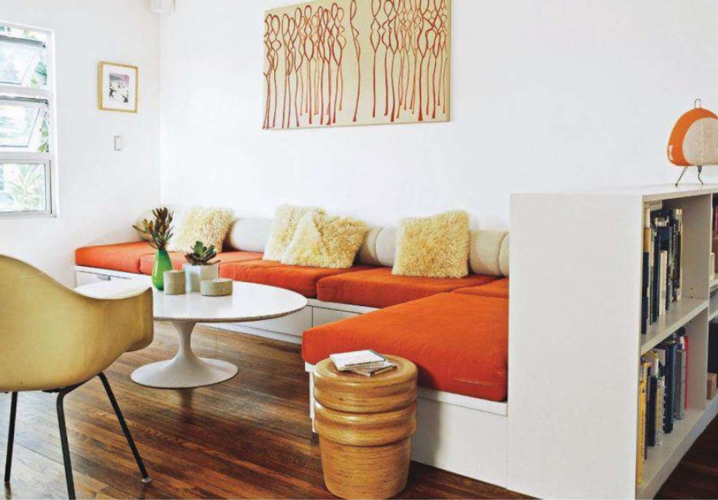 woonkamer interieur ideëen met oranje • Stijlarchief.nl