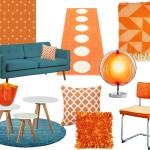 woonkamer interieur ideëen met oranje