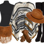 Fashion inspiration: De Poncho en Over Knee boots