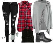 zwarte ripped skinny jeans