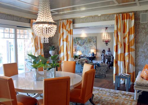 woonkamer interieur ideëen met oranje 2