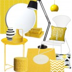 Interieurinspiratie: Gele woon- en badkameraccessoires