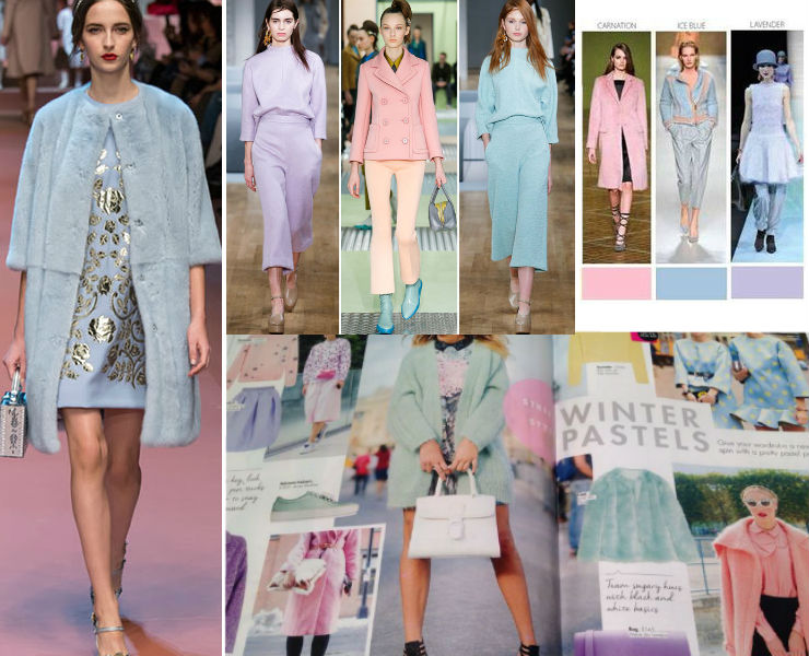 Fashiontrend winter 2015 Pastels